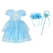 Костюм Зимняя принцесса 65 см, голубой, ободок, палочка.