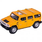 M A Products 2008 Hummer H2 SUV Die Cast Toy with Pull Back Action, Yellow