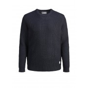 JACK & JONES Trui Met Ronde Hals Plus Size Pullover Heren Blauw / BlackNavy / 6XL