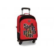 Troler-Ghiozdan convertibil 44 cm 4 roti Movom Skateboard rosu