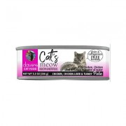 Dave's Pet Food Cat's Meow 95% Chicken, Chicken Liver & Turkey Canned Cat Food, 5.5-oz, case of 24