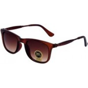 Silver Kartz Rectangular Sunglasses(Brown)
