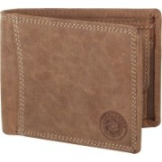 New Tareen Men Casual Brown Genuine Leather Wallet(4 Card Slots)