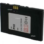 Otech Batterie de téléphone portable pour PHILIPS 330 Li-ion 600 / 700mAh