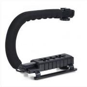 U Vorm Camera Flash Bracket Stand Grip Holder Black Voor DV Camcorder