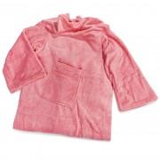 Pătură Confort, cu mâneci și buzunare, roz, 180 x 135 cm