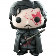 Funko Pop Jon Snow Blood Con Sangre Exclusivo Night Watch Game Of Thrones Juego De Tronos-Multicolor