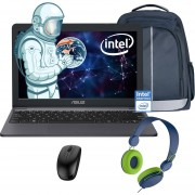 Laptop Asus Vivobook L203M N4000 64GB 4GB + Mochila, Mouse y Diadema