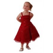 Galajurk meisjes rood met organza- 98