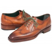 Paul Parkman Wingtip Goodyear Welted Oxford Shoes Camel Brown 87CML66