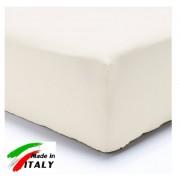 Coordinabili Lenzuolo Angolo con Elastici Matrimoniale Lenzuolo Made in Italy Cotone BIANCO