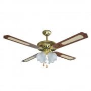 Вентилатор за таван с лампа SAPIR SP 1760 4C4L, 70W, 132 см, 3 степени, Кафяв