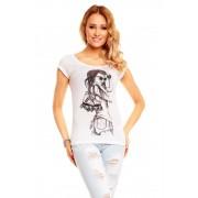 Dámské bílé tričko s potiskem
