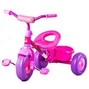 GoodLuck Baybee - Children Plug and Play Sudo Flower Designs on Wheels Tricycle Kid's for 2-4 Years Baby Trike Ride on Outdoor | Suitable for Babies,Boys & Girls - (Pink)