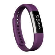 For Fitbit Alta Watch Oblique Texture Silicone Watchband Small Size Length: about 18.5cm(Purple)