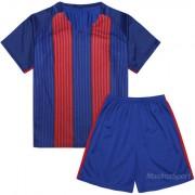 Детски футболен екип фланелка с шорти синьо и червено