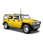 Maisto 1:24 2003 Hummer H2 Suv Yellow Color Jeep