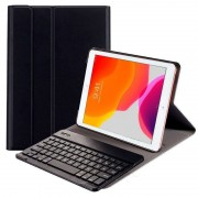 "Cool Funda Polipiel Negra para Apple iPad 2019 10.2"" + Teclado Bluetooth"