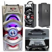 Boxa Portabila cu BT, FM, USB, SD 36x15x13cm HLBT3002