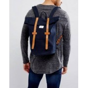 Sandqvist Stig Rolltop Backpack in Navy - Navy