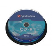 VERBATIM - CD-R 80 min 700 Mb - Spindle de 10 (data) 52x
