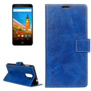 For Wileyfox Swift 2 Retro Crazy Horse Texture Horizontal Flip Leather Case with Holder & Card Slots & Wallet & Photo Frame (Blue)