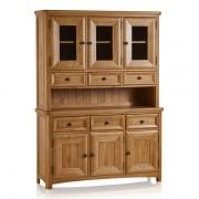 Oak Furnitureland Natural Solid Oak Dressers - Large Dresser - Wiltshire Range - Oak Furnitureland