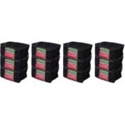 Kuber Industries Saree cover Designer Non woven Saree cover/ Saree Bag/ Storage bag Set of 12 Pcs 9 Inches Height SAREE503 (Black) SAREE0503(Black)