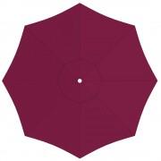 Paramondo Toile de parasol ronde 3,5 m, Interpara, Bordeaux