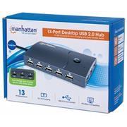 Manhattan Hi Speed 13 Port Desktop USB Hub - 13