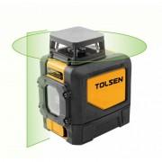 Nivela laser cu linie incrucisata orizontala la 360° Tolsen, nivel de fascicul verde, 30 m