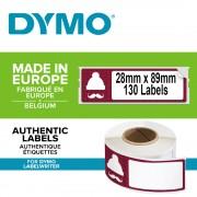 Etichete termice DYMO LabelWriter Lumberjack Holiday permanente 28mmx89mm hartie alba 1 rola cutie 130 etichete rola 1960101