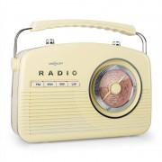 oneConcept NR-12 Kofferradio UKW MW Retro 50er Jahre creme gelb
