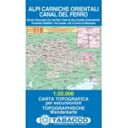 Tabacco WK 018 Karnské Alpy východ / Alpi Carniche Orientali 1:25 000