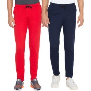 Cliths Red Navy Blue Slim Fit Solid Men's Lower for Daily Use (Pack Of 2)