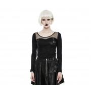 tricou stil gotic și punk femei - Tech Noir - PUNK RAVE - WT-494/BK