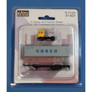 Kato KAT31621 N Yard Tractor w/40' Container, Cosco