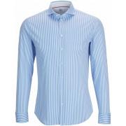 Desoto Hemd Bügelfrei Blau Streifen - Blau Größe M