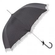 Clayre & Eef JZUM0009Z Esernyő 93x90cm,fekete fehér pöttyös