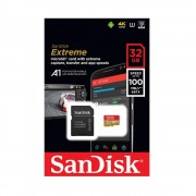 Micro SD Card, 32GB, SanDisk Extreme, 1xAdapter, Class 10 U3 (SDSQXAF-032G-GN6MA)