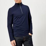 Michael Kors Men's Quarter Zip Knitted Jumper - Midnight - XL - Blue
