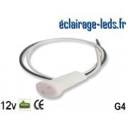 Douille LED G4 fil denudé 12v ref do-01