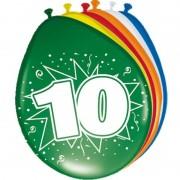 Folat 24x Feestartikelen 10 jaar ballonnen