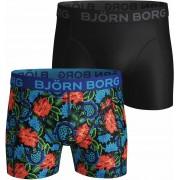 Bjorn Borg Boxershorts 2-Pack Dramatic Flower - Schwarz Größe S