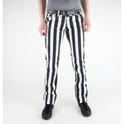 kalhoty dámské 3RDAND56th - 1 Stripe Skinny Jeans - JM1111 - BLK-WHT