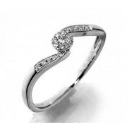 Zásnubní Prsten s diamanty, bílé zlato 386-1223 elegantní Gems Dana