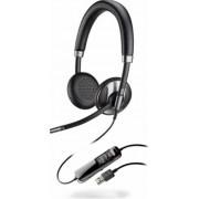 Casca Call Center Plantronics BLACKWIRE C725-M , USB, Microsoft Certified, Binaural, Noise Canceling (Negru)