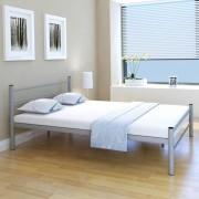 vidaXL Estrutura de cama metal 140x200 cm cinzento