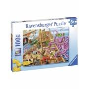 Puzzle Vasul Piratilor, 100 Piese Ravensburger
