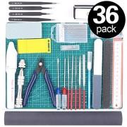 Rustark 36Pcs Modeler Basic Tools Craft Set Hobby Building Kit for Gundam Car Model